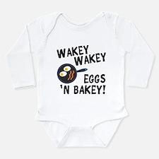 Bacon And Eggs Long Sleeve Infant Bodysuit