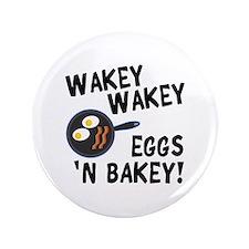 """Bacon And Eggs 3.5"""" Button"""