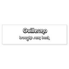 Sexy: Guillermo Bumper Bumper Sticker