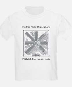 Eastern State Penitentiary Map T-Shirt