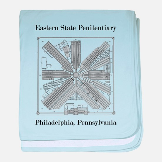 Eastern State Penitentiary Map baby blanket