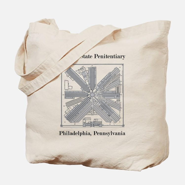 Eastern State Penitentiary Map Tote Bag