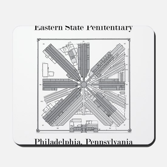 Eastern State Penitentiary Map Mousepad