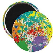 Colorful Splatter Magnet