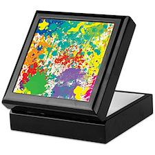 Colorful Splatter Keepsake Box