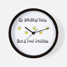 Drinking Team Wall Clock