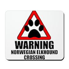 Norwegian Elkhound Warning Mousepad