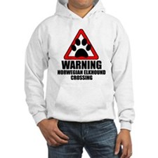 Norwegian Elkhound Warning Hoodie
