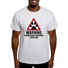 Norwegian Elkhound Warning T-Shirt
