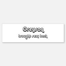 Sexy: Greyson Bumper Bumper Bumper Sticker