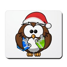 Christmas Owl Mousepad