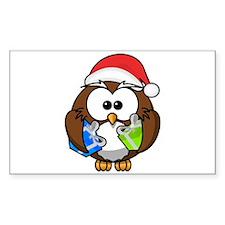 Christmas Owl Decal