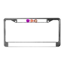 Three beauties License Plate Frame