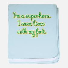 I'm a superhero baby blanket