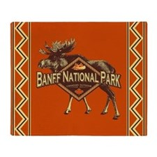 Banff Natl Park Moose Throw Blanket