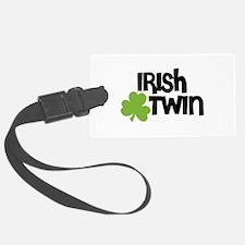 Irish Twin Shamrock Luggage Tag