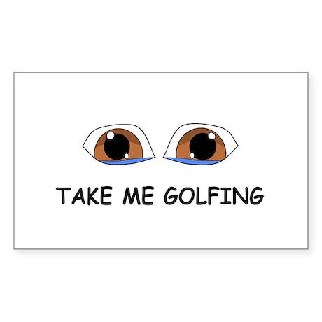 Take Me Golfing Sticker