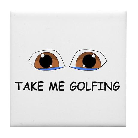 Take Me Golfing Tile Coaster