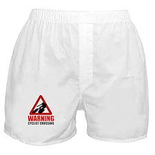 Warning: Cyclist Boxer Shorts