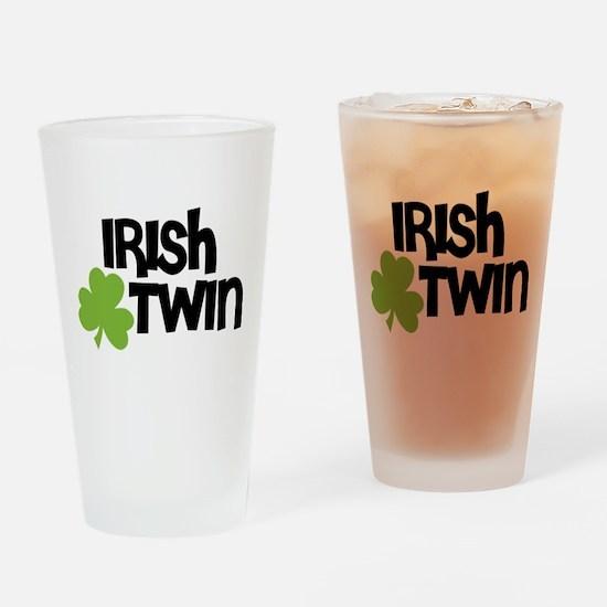 Irish Twin Shamrock Drinking Glass