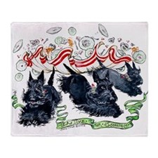 Tea Time for Scotties Throw Blanket