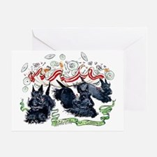 Tea Time for Scotties Greeting Card