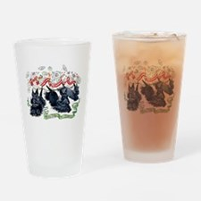 Tea Time for Scotties Drinking Glass