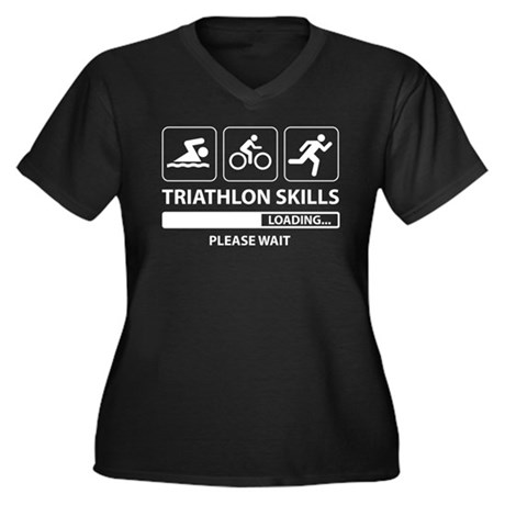 Triathlon Skills Plus Size T-Shirt