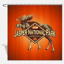 Jasper Natl Park Moose Shower Curtain
