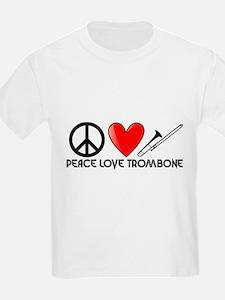 Peace, Love, Trombone T-Shirt