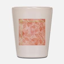 Peach Leaves Shot Glass