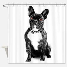 Ruby Eyed Frenchie Shower Curtain