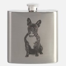 Ruby Eyed Frenchie Flask