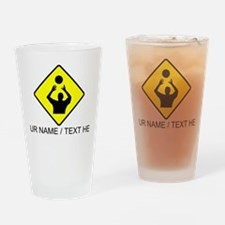 Volleyball Set Crossing Drinking Glass