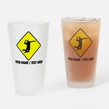 Volleyball Spike Crossing Drinking Glass