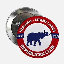 """Hialeah Miami Lakes Republican Club 2.25"""" Button"""
