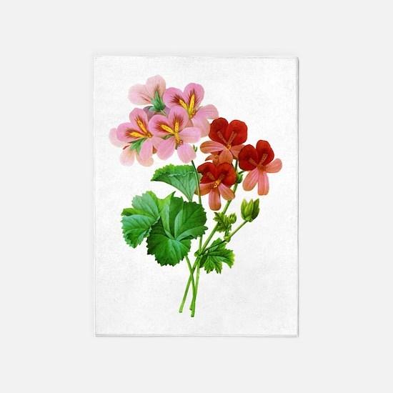 Geranium Variete by Pierre Joseph Redoute 5'x7'Are