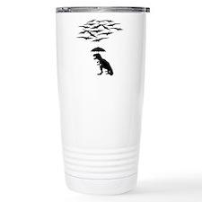 T-Rex vs the Pterodactyls Travel Mug