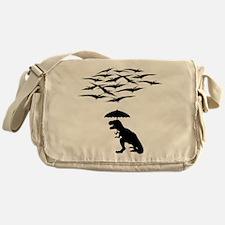 T-Rex vs the Pterodactyls Messenger Bag