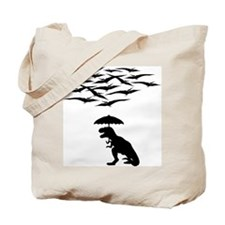 T-Rex vs the Pterodactyls Tote Bag