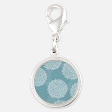 Dandelion Puffs Silver Round Charm