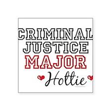 Criminal Justice Major Hottie Rectangle Sticker