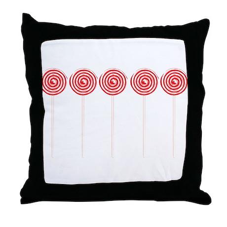 Wild Sugar Rush Lollipop Throw Pillow