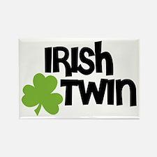 Irish Twin Shamrock Rectangle Magnet