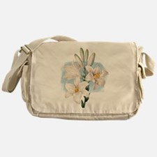 White Lilies Messenger Bag
