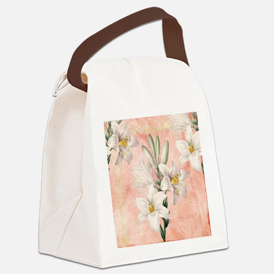 Lilies Canvas Lunch Bag