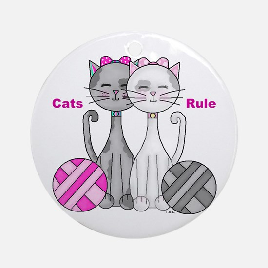 Cats Rule Ornament (Round)