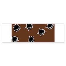 Bullet holes Bumper Bumper Sticker