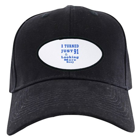 91 birthday designs Black Cap