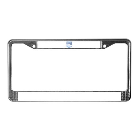 91 birthday designs License Plate Frame